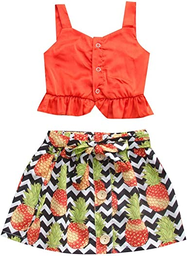 Comie - Falda para niña, para bebé, niño, diseño de Flores, piñas ...