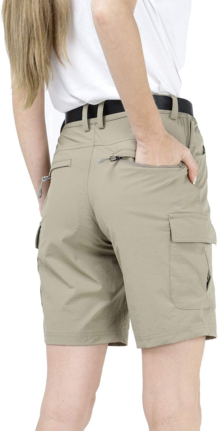 Exclude Belt MIER Womens Nylon Hiking Shorts Quick Dry Outdoor Cargo Shorts with 7 Pockets Water Resistant and Lightweight