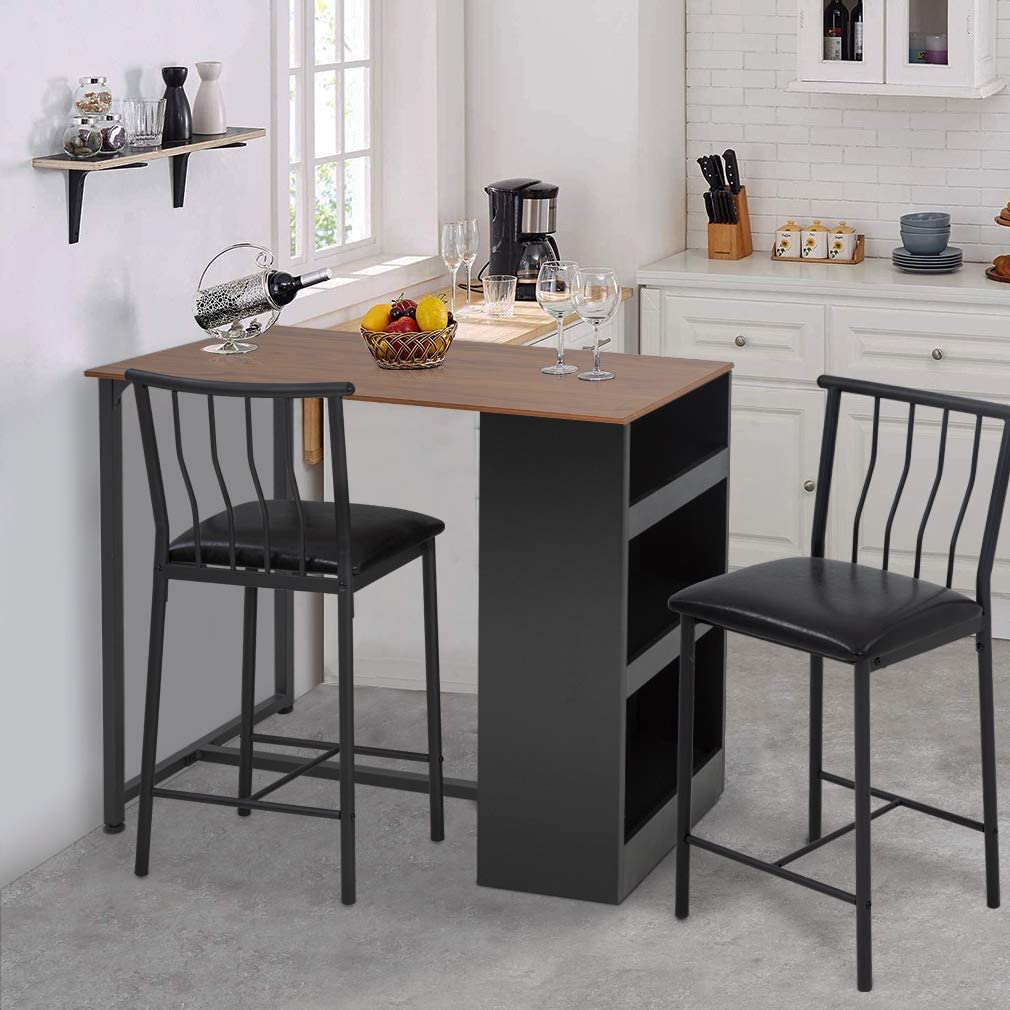 FDW Dining Table Set Kitchen Table and Chairs Dining Room Table Set for Small SpacesDining Table for 2 Modern Home Furniture Rectangular