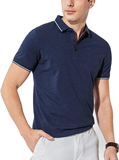 Camisa De Polo De Hombre, Camiseta Azul De Camisa Hombre, Polo De Joven Negocio, Flojo, De Verano Camisa De Polo De Algodón De Manga Corta Solapada: Amazon.es: Ropa y accesorios