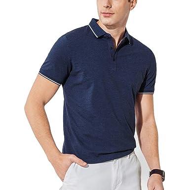 Camisa De Polo De Hombre, Camiseta Azul De Camisa Hombre, Polo De ...