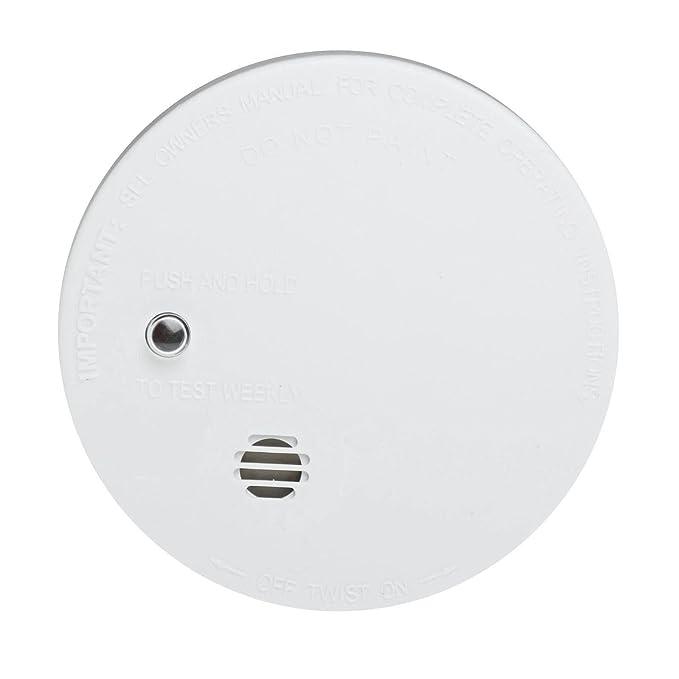 3 x Kidde i9040 fuego alarmas de humo detectores de ionización Sensor funciona con pilas de botón de silencio/diseño compacto (1 unidades modessimple/1): ...