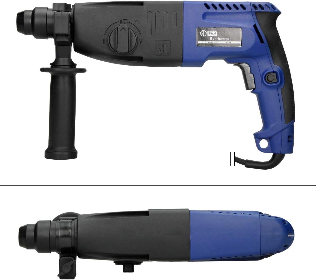 Koffer und Zubeh/ör ECD Germany SDS-Plus-Bohrhammer 800 W 3 J Bohrleistung /Ø in Beton 30 mm Bohrmaschine Elektrische Bohrhammer