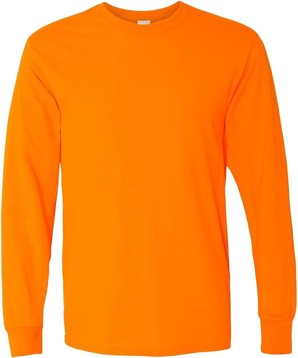 Gildan Heavy Cotton 100% Cotton Long Sleeve T-Shirt.