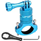 Mountain Bike Camera Handlebar,for All gopro Models/Action Cameras gopro Handlebar Mount, Aluminium 360 Degree Rotation (Blue