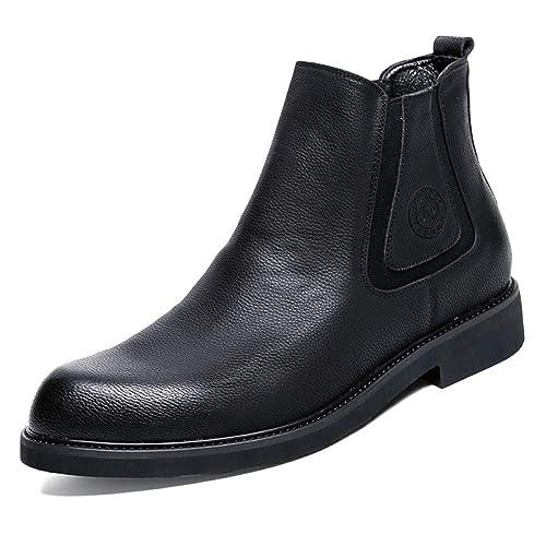 Chelsea Botas Hombre Cuero Boda Desierto Brogue Clásico Botines Retro Casual Martin Botas Botas Vaqueras: Amazon.es: Zapatos y complementos