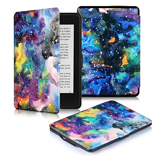 DHZ Smart Case for Kindle Paperwhite - The Lightest Leather Case Cover With Auto Sleep/Wake for Amazon Kindle Paperwhite (Fits All 2012, 2013, 2015,2016 Versions),Colorful Milky Way by DHZ