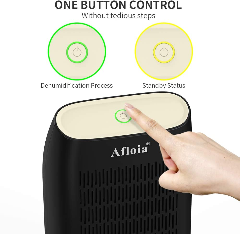 Bedroom Aloia Electric Air Dehumidifier Dorm Room Closet with Auto Shut Off for Basements Kitchen and RV 700ml Compact Mini Portable Deshumidificador, 215 sq ft Bathroom