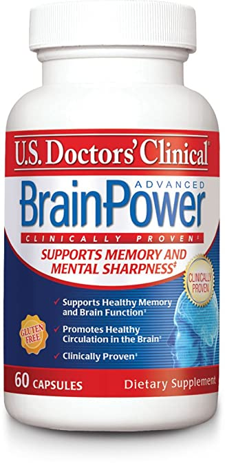 US Doctors Clinical BrainPower Advanced Memory Supplement with 15 Brain-Boosting...