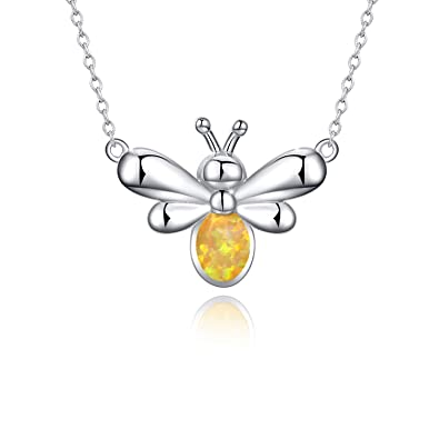 NEW Beautiful 925 Silver Plated Honey Bee Necklace UK Seller