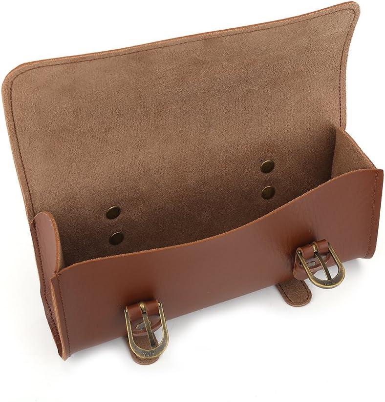 cuir vintage sacoche de guidon /étanche V/élo sacoches Sac avant Sac Alomejor Sac de guidon de v/élo