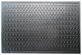 A1 Home Collections Natural Rubber Geometric, Residential/Commercial Tapered Edge Scraper Doormat, 24'' W x 36'' L