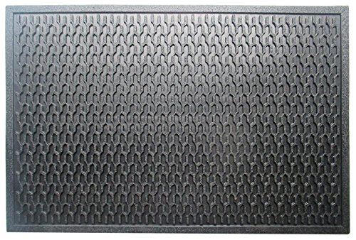 A1 Home Collections Natural Rubber Geometric, Residential/Commercial Tapered Edge Scraper Doormat, 24'' W x 36'' L by A1 Home Collections