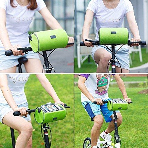 Bestland Fahrradtasche Wasserfeste Touch Screen Lenkertasche Radfahren vorne Reiten Telefon-Paket Tragebeutel mit abnehmbarer Schultergurt