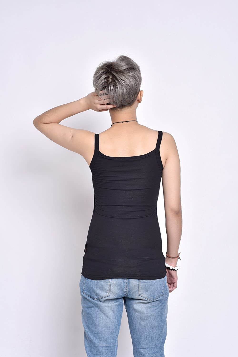 BaronHong Stronger Elastic Band Chest Binder Cotton Wide Shoulder Strapy Tank Top for Tomboy Trans Lesbian