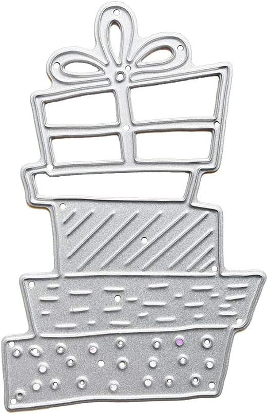 F8F - Plantilla de metal para troquelado, diseño de caja de Navidad: Amazon.es: Hogar