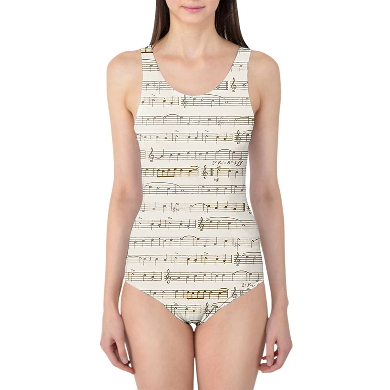 Sheet Music Women's Swimsuit Badeanzug XS-3XL