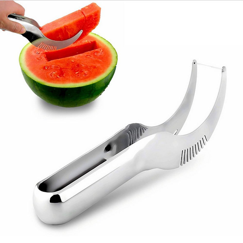 S.B.T Stainless Steel Watermelon Slicer Tongs Cutter Corer, Hot Summer Kitchen Knifes Tools Lad Cucumber Vegetable Peeler