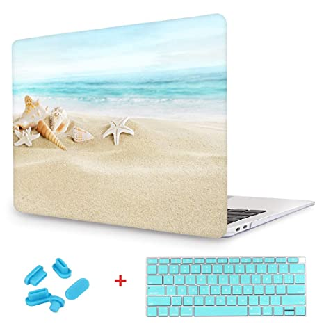 separation shoes 24ae6 606fe New Fashion Rubberized Clear Laptop case + Keyboard skin + Dust plug For  Macbook Pro 13 Retina (Models:A1425/A1502) - Ocean Beach Starfish