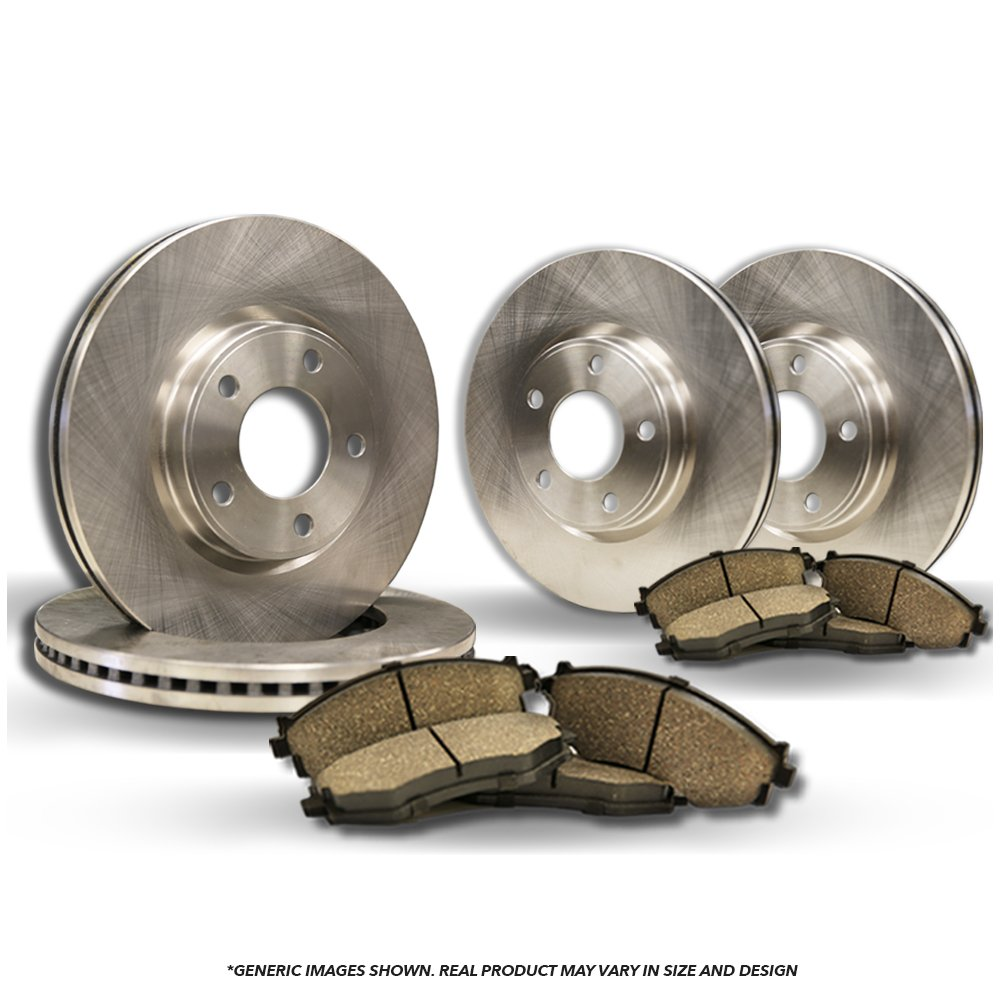 4 Silver Coated Cross-Drilled Disc Brake Rotors Front+Rear Kit 5lug Fits:- Volkswagen Heavy Tough-Series 8 Semi-Metallic Pads
