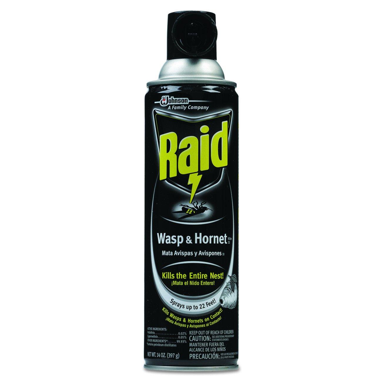 Raid DRK CB013536 Wasp and Hornet Killer, 14 oz. Capacity, Aerosol