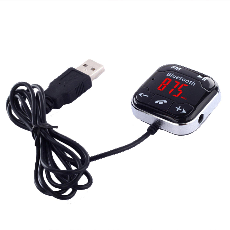 Transmetteur radio de voiture Transmetteur FM avec chargeur voiture 2 ports USB et Micro pour Smartphones avec prise jack 3, 5 mm audio plug 5mm audio plug EUCEOAMZ