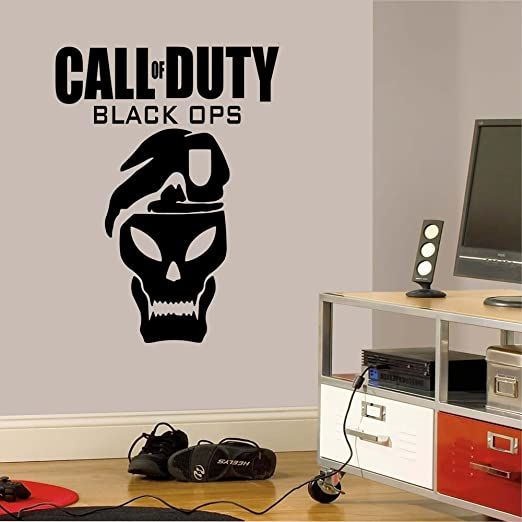 Amazon.com: Call Of Duty Black Ops   Wall Decal Art Sticker Boyu0027s Bedroom  Playroom Hall (Color: Black Size: Medium): Home U0026 Kitchen