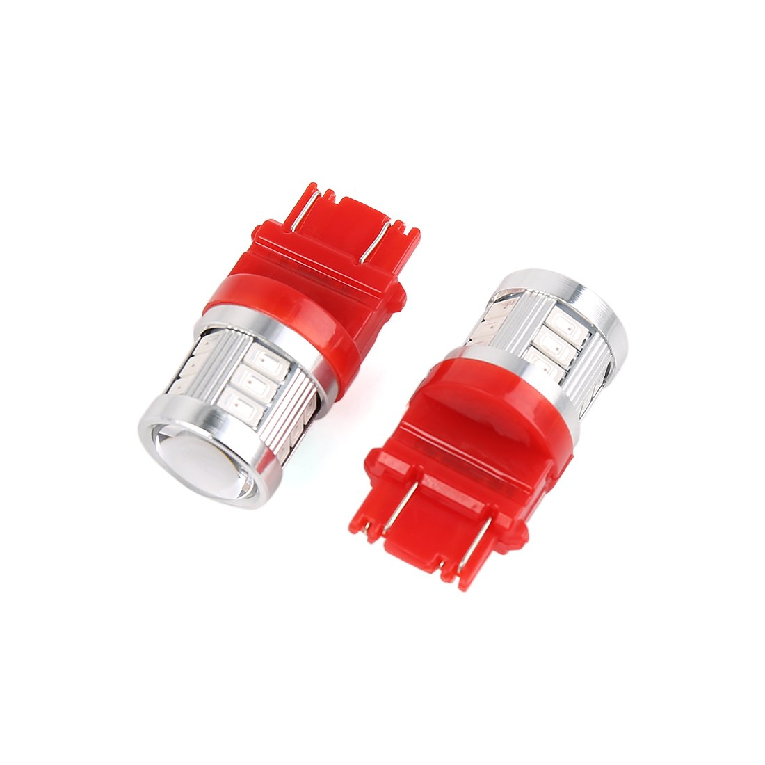 sourcing map 2pcs 12V 3157 Bombilla de Cruce LED Rojo ...