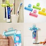 Exprimidor y dispensador para tubo de pasta de dientes, con soporte para colgar
