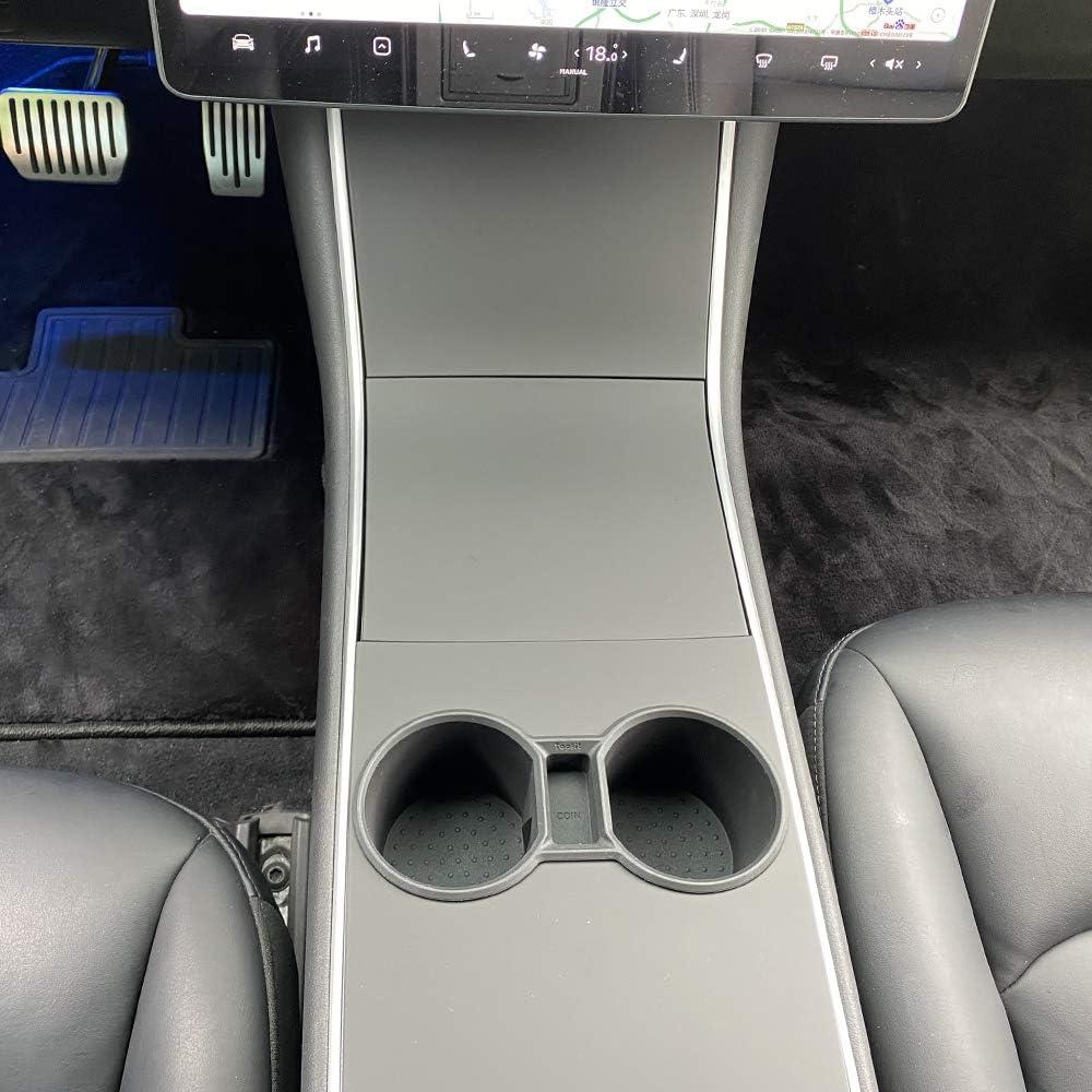 LMZX Mittelkonsole Getr/änkehalter Auto Becherhalter f/ür Tesla Model 3 Zubeh/ör Schwarz