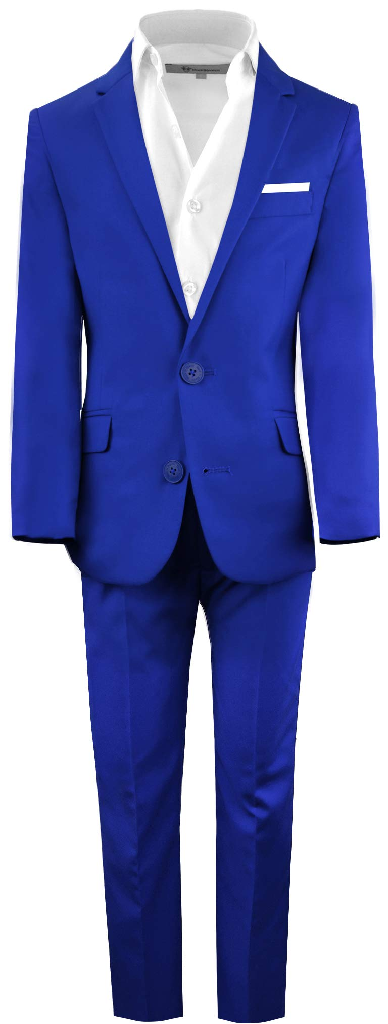 Black n Bianco Boys' First Class Slim Fit Suits Lightweight Style. Presented by Baby Muffin (16, Blue)
