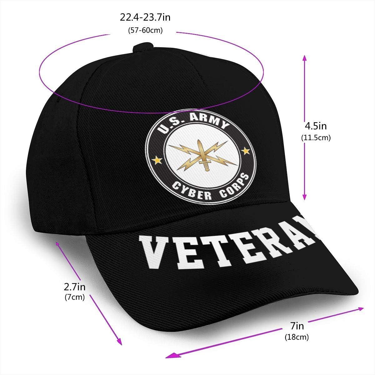 US Army Cyber Corps Baseball Cap Dad Hat Unisex Classic Sports Hat Peaked Cap Veteran Hat
