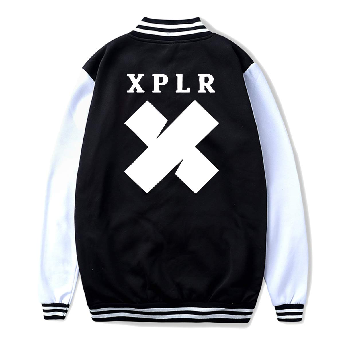 JAXX9 Youth Baseball Uniform Jacket Coat X-P-L-R Hoodie Sweater Coat for Boys Girls Black L