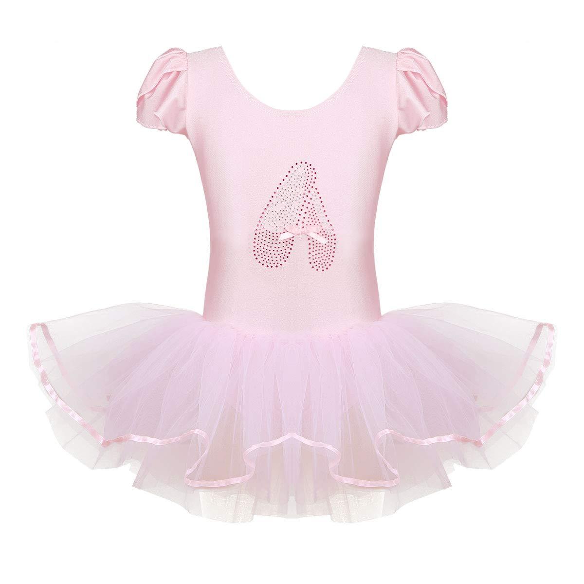 b8fa68408 Amazon.com  YiZYiF Little Girls  Princess Ruffled Mesh Ballet ...