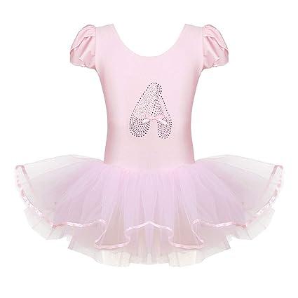 0a93af2b1b2a YiZYiF Little Girls  Princess Ruffled Mesh Ballet Dancing Leotard Tutu  Skirt Tiered Dress Dancewear