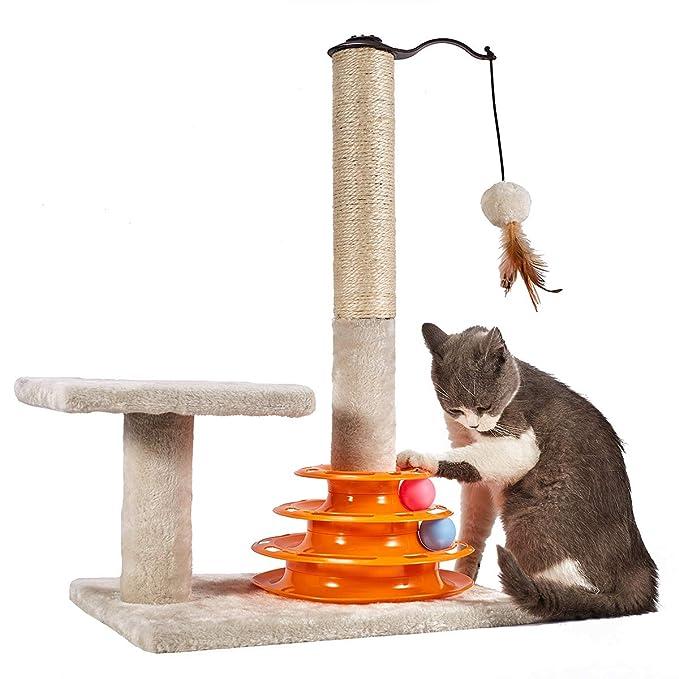 Amazon.com: PEEKAB - Rascador para gatos, cuerda de sisal ...