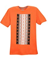 Nike Men's Stripes T-Shirt Orange White Black