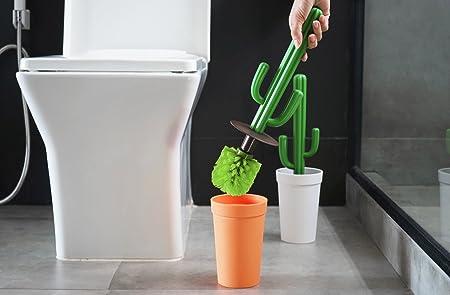 Unbekannt Qualy B/ürste de Toilette Kaktus wei/ß