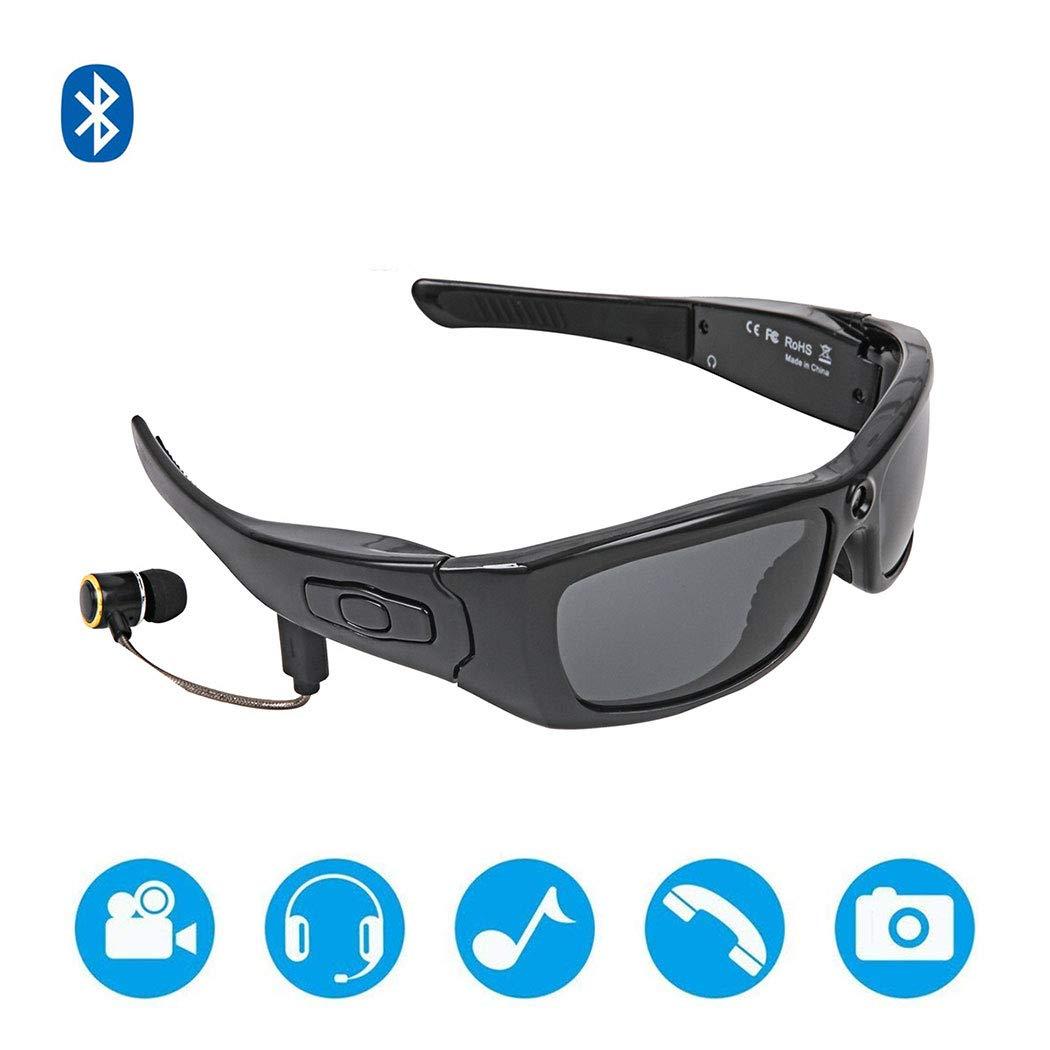 新しい1080 P USB高精細ヘッドセットMP3ブルートゥースミュージックビデオサングラスはファッションスポーツスマートメガネを呼び出すために接続することができます   B07M737YJP