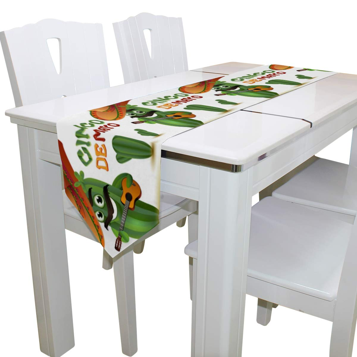 Amazon.com: Camino de mesa para comedor, divertido cactus ...