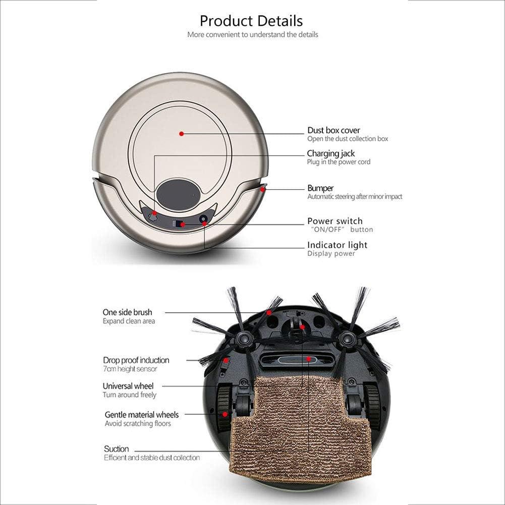 Robot Aspirateur Laveur, 2000pa 3-en-1 avec Smart Navi Nettoyage Personnalisé Cartographie multi-étages Barrières Virtuelles sur les Tapis Moquettes et Sols Durs,Bleu Pink