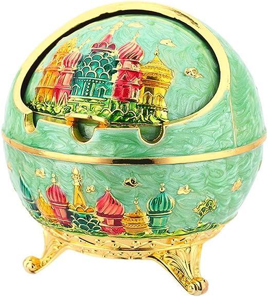 GFF Caja esférica de hollín con Cubierta esférica de aleación de Zinc para la decoración de Regalos para el hogar (Color: Verde): Amazon.es: Hogar