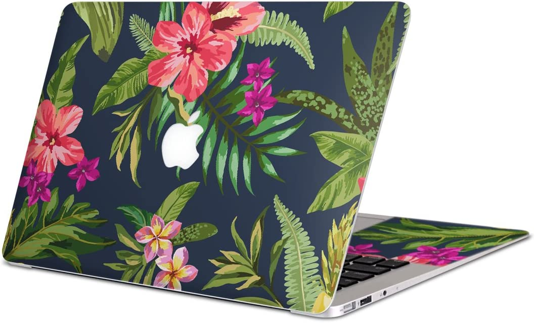 igsticker Skin Decals for MacBook Pro 15 Retina mid 2012-mid 2015(Model A1398) Ultra Thin Premium Protective Body Stickers Skins Universal Cover Hibiscus Plant Navy