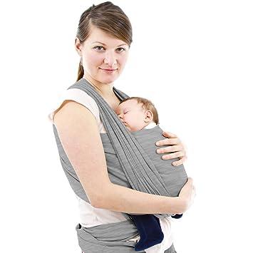 Porte Bébé écharpe de portage pour Bébé - Transporter le Bébé - Coton et  élasthanne - e507b8bc1b4
