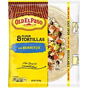 Old El Paso (8-Inch) Flour Tortillas, 8-Count Packages