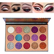Beauty Glazed 15 Shades Eyeshadow Palette Shiny and Pigmented Mineral Pressed Powder Glitter Eyes Long Stay On Make Up Eye Shadow Shimmer Palettes