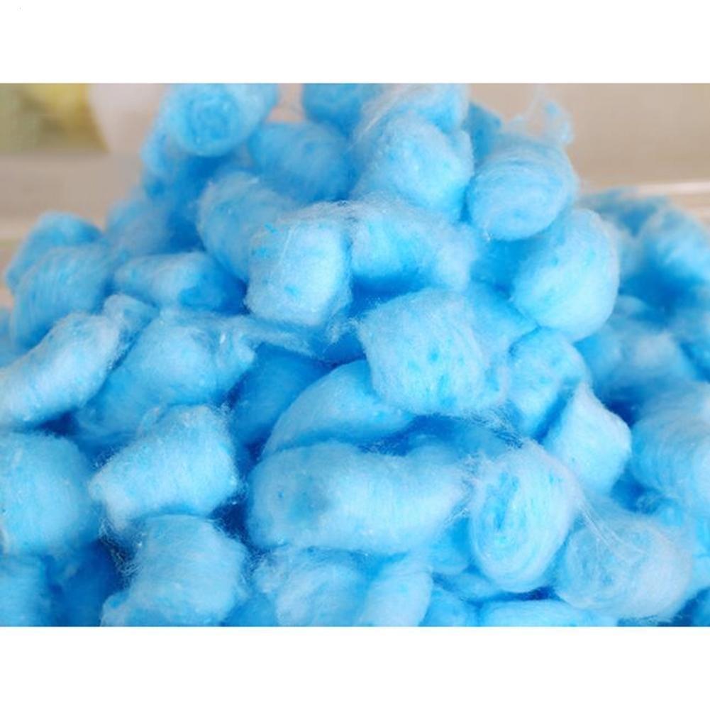 HYGMall 100 PCS / 1 BAG Lit Thermique Maison Hamster Coton Boule Pet Petits Animaux Chaud Nid Pet remplisseur balle de coton Pour Guinée cochon chinchilla Coton Ball (Blanc)