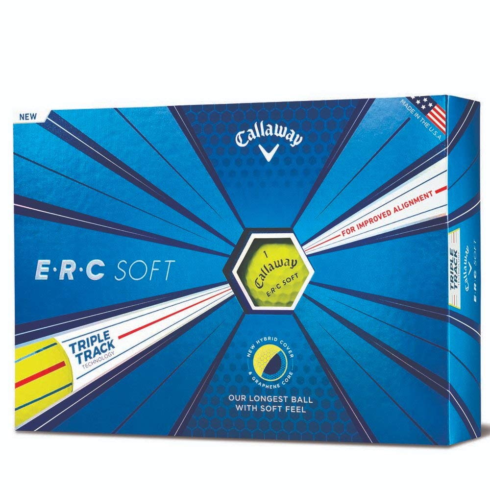 Callaway Golf ERC Soft Triple Track Golf Balls, (One Dozen), Yellow by Callaway