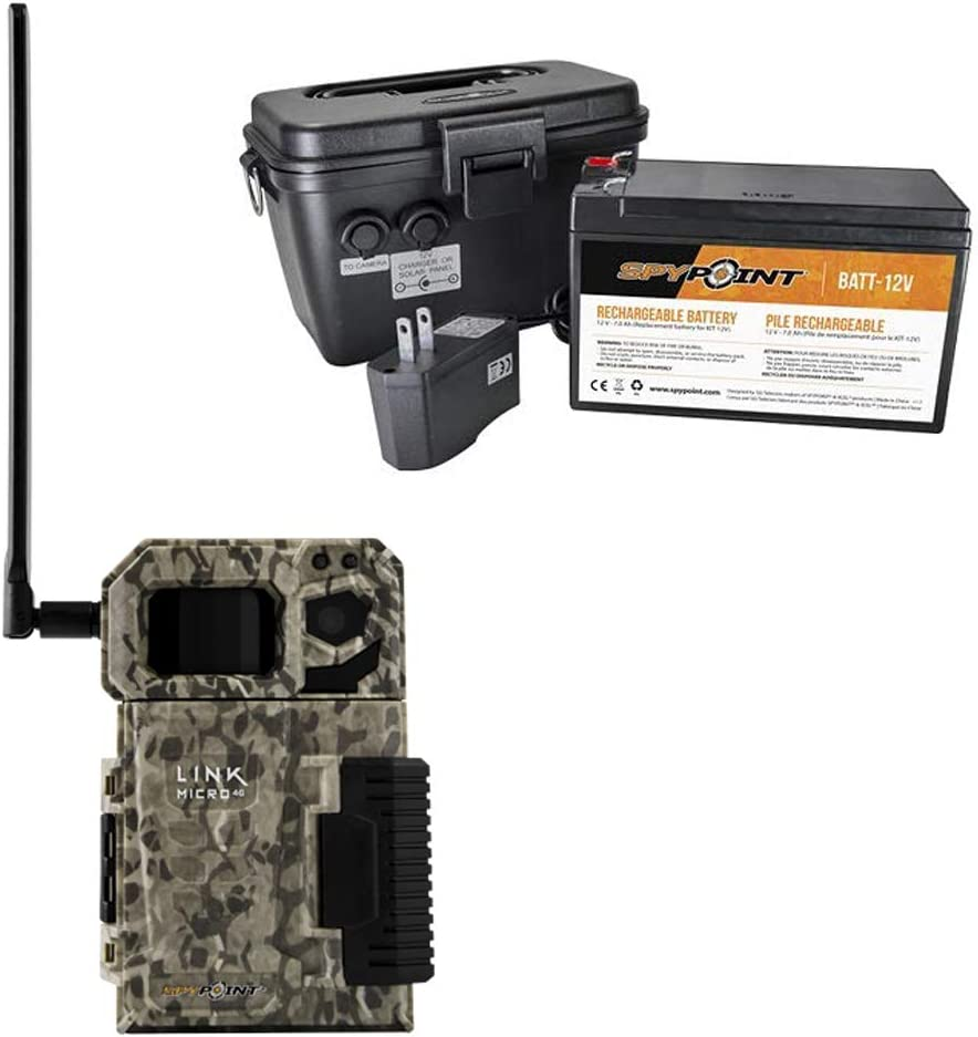 SPYPOINT LINK MICRO Nationwide Cellular Hunting Trail Game Camera & Battery