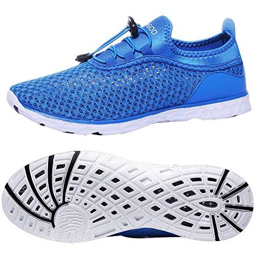 Yungod Männer und Frauen schnell trocknende Slip auf Aqua Wasser Schuhe sportlich leichte Wanderschuhe Blau